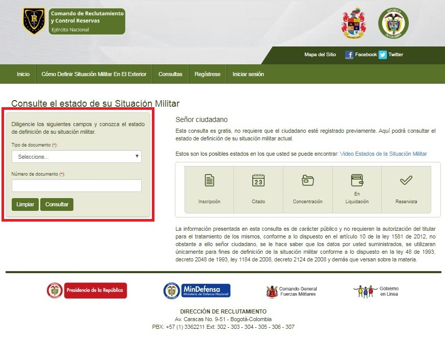 Certificado libreta militar Colombia 4