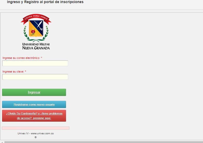Universidad militar Nueva Granada - inscripci贸n y matriculas 1
